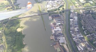 Overland boven Dordrecht