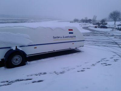 Foto winterlandschap Terlet